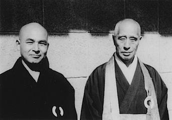 Keido Fukushima Roshi and Zenkei Shibayama Roshi