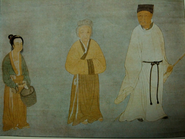 Layman P'ang with his wife and daughter, attributed to Yüeh-shan